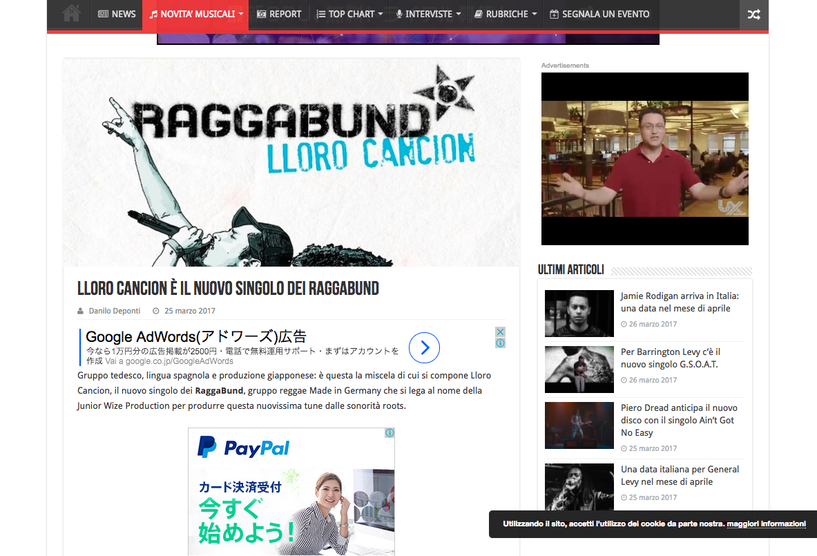 "Eventireggae reviewed for Raggabund ""Lloro Cancion"" releases!"