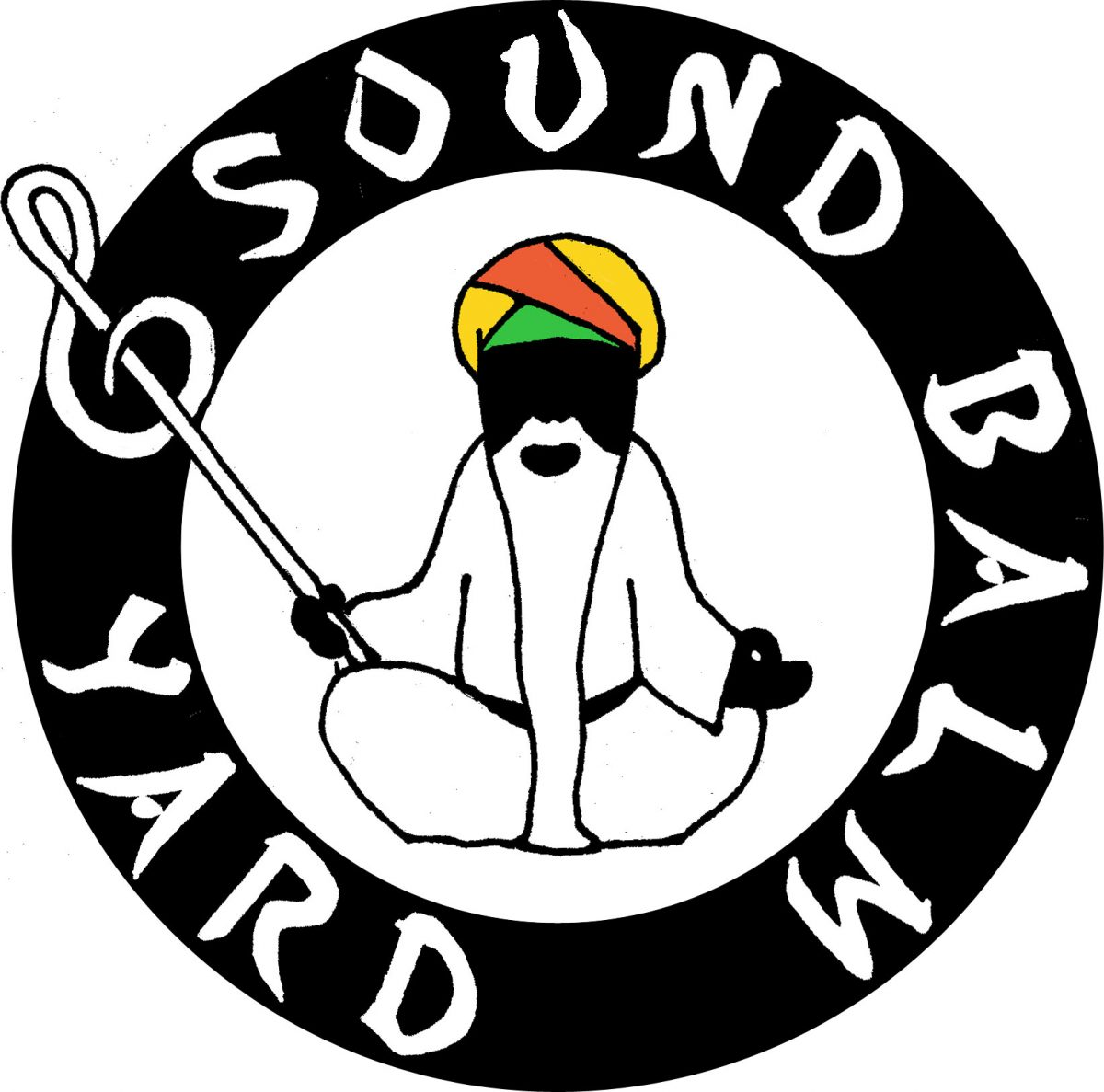"""Sound Balm Yard"" label logo determined"